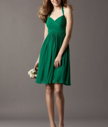 2017 Emerald Green Short Bridesmaid Dress