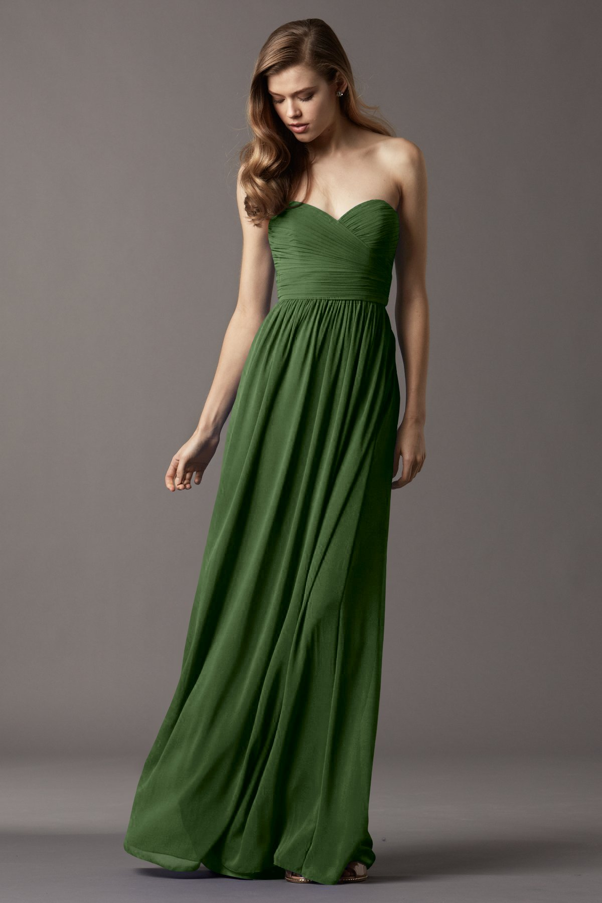 2017 flora Strapless Sweetheart Gowns