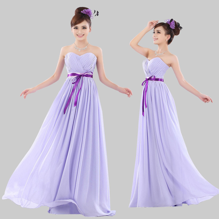 2017 long light purple bridesmaid dresses sweetheart shape