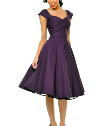 50s style bridesmaid dresses purple