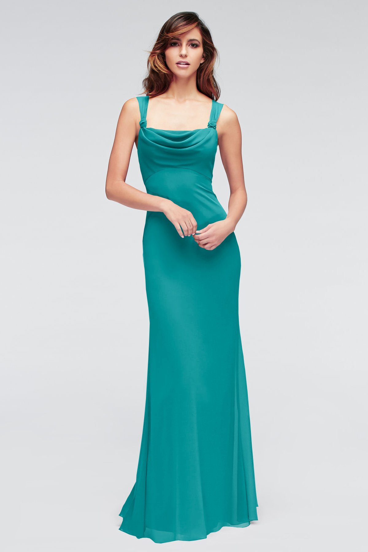 Aqua Green Long Bridesmaid Dress 2017