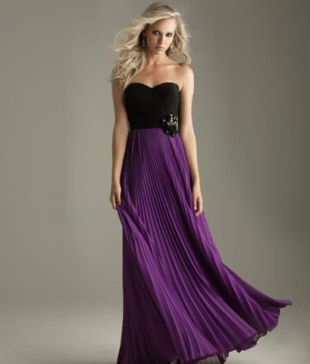 Black and purple long bridesmaid dresses