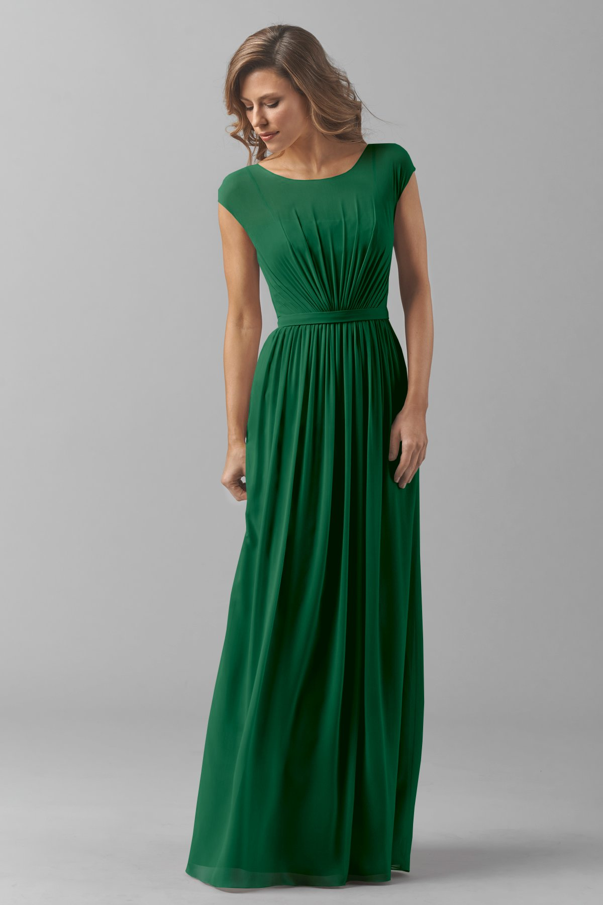 Emerald Green Mother Bridesmaid Dress Long