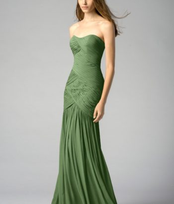Flora Green Mermaid Bridesmaid Gowns 2017