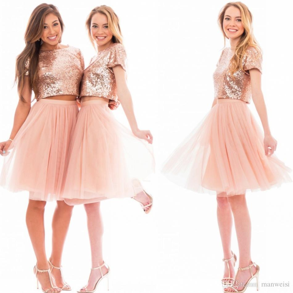 Jewel Blush Pink Bridesmaid Dress