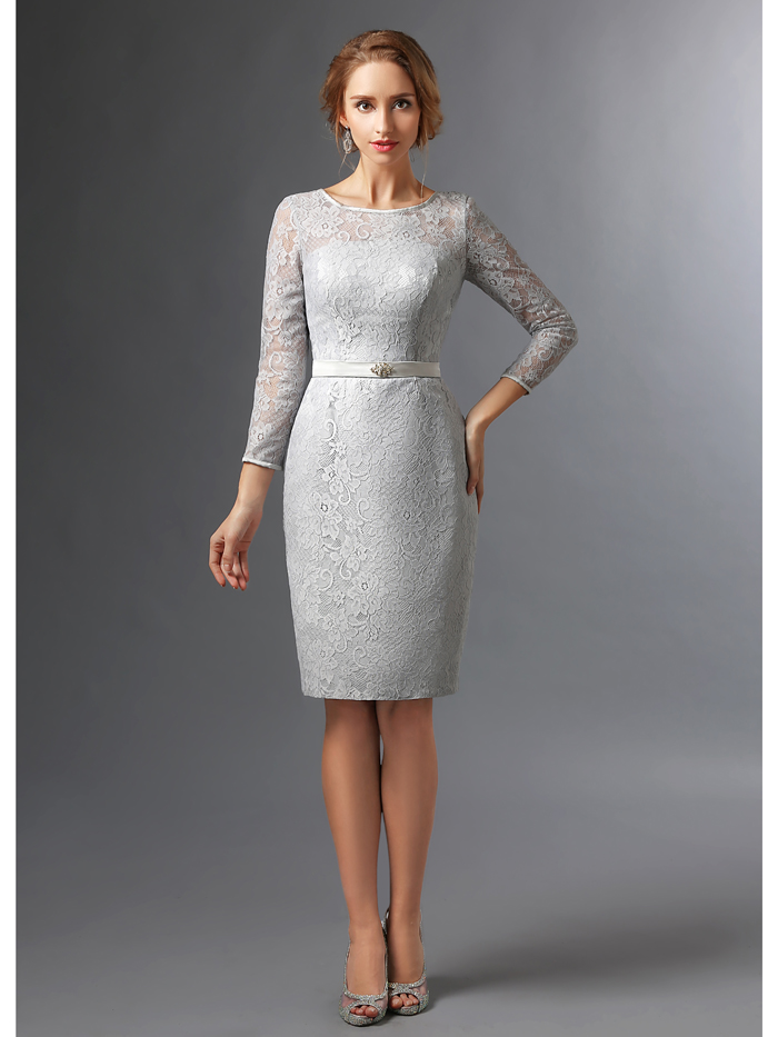 lace gray bridesmaid dresses with sleeves � budget