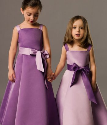 Little girls purple bridesmaid dresses