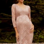 Maternity Blush Pink Bridsmaid Dress