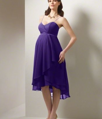 Maternity purple bridesmaid dresses style