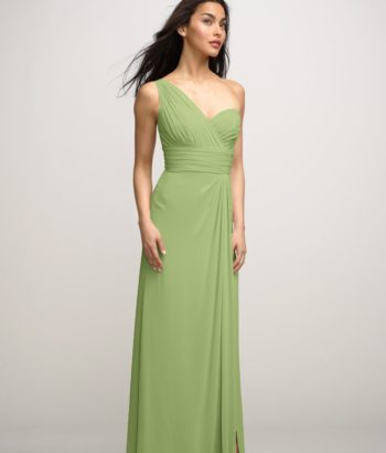 Midori Green One Shoulder Long Bridesmaid Dress