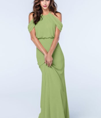Midori Green Straps Chiffon Bridesmaid dress