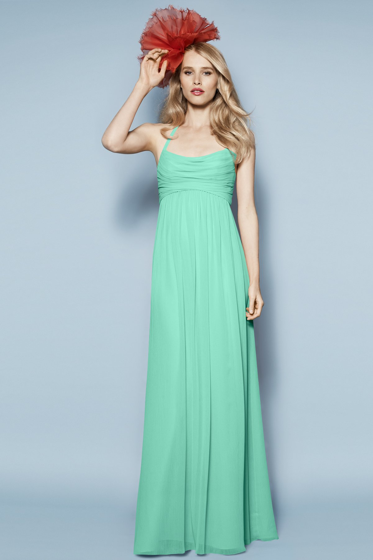 Mint Green Empire Long Gowns