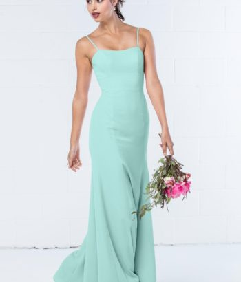 Mint Green Simple Long Bridesmaid Dress