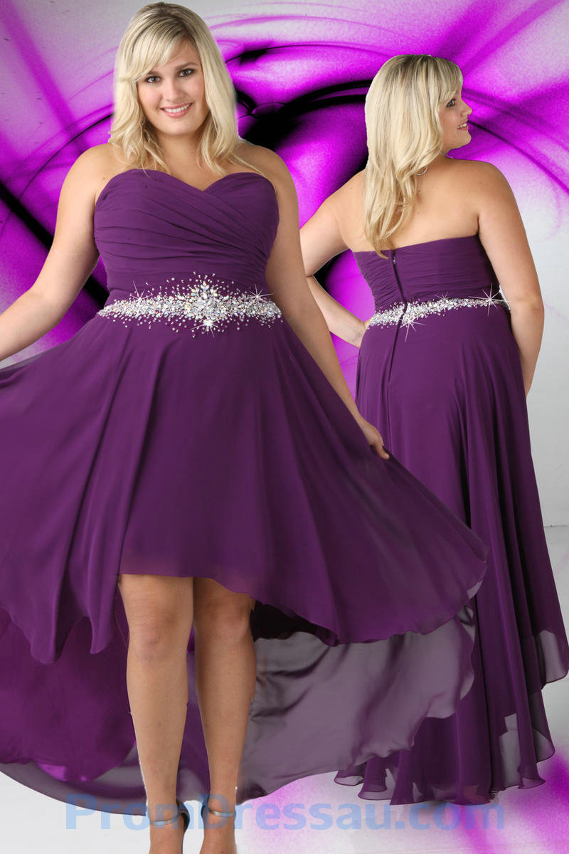 Pretty plus size purple bridesmaid dresses