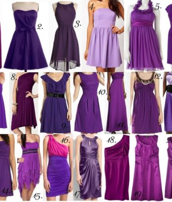 Purple bridesmaid dresses shapes and styles collection
