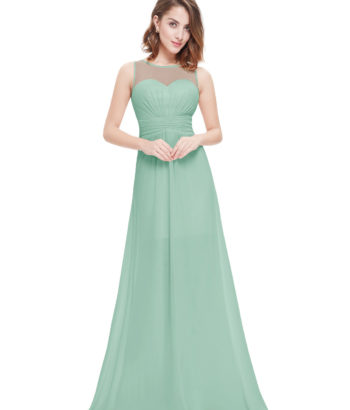 Sage Green Sweetheart Sheer Lace Bridesmaid Dress Long