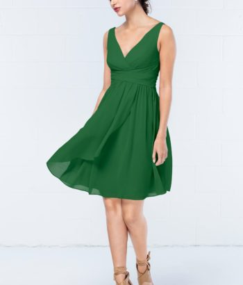 Short Emerald Green Summer Bridesmaid Dress