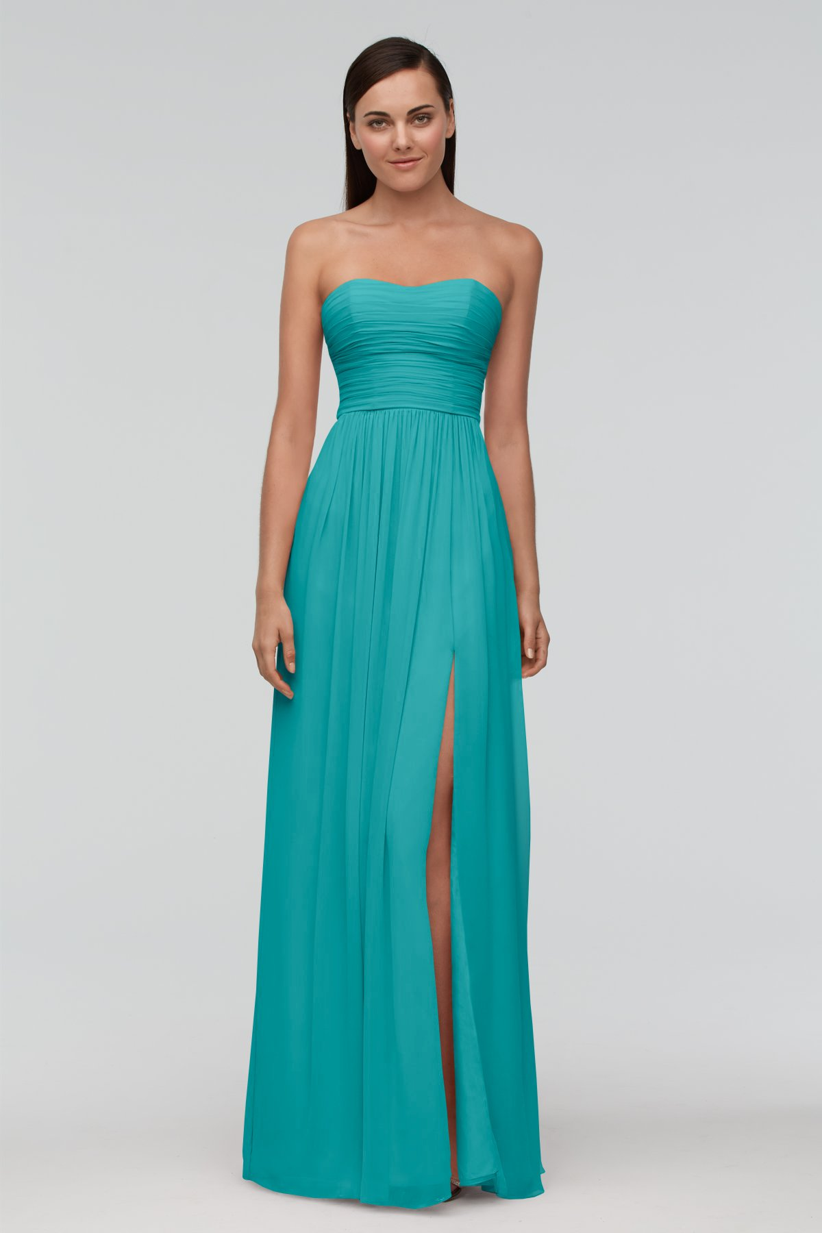 Strapless Sweetheart Long Bridesmaid Gowns UK
