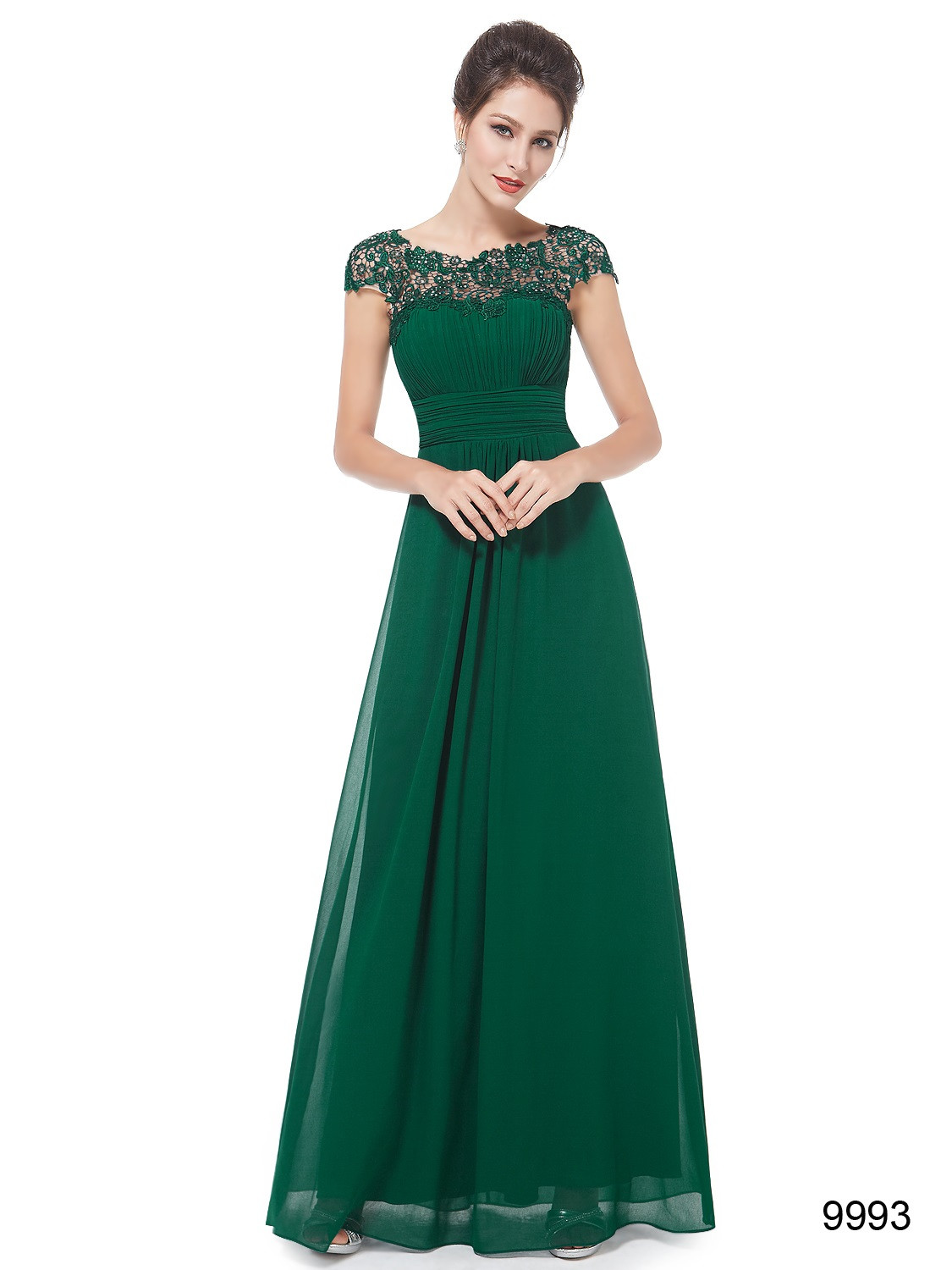 Top Lace Green Lacey Bridesmaid Dress