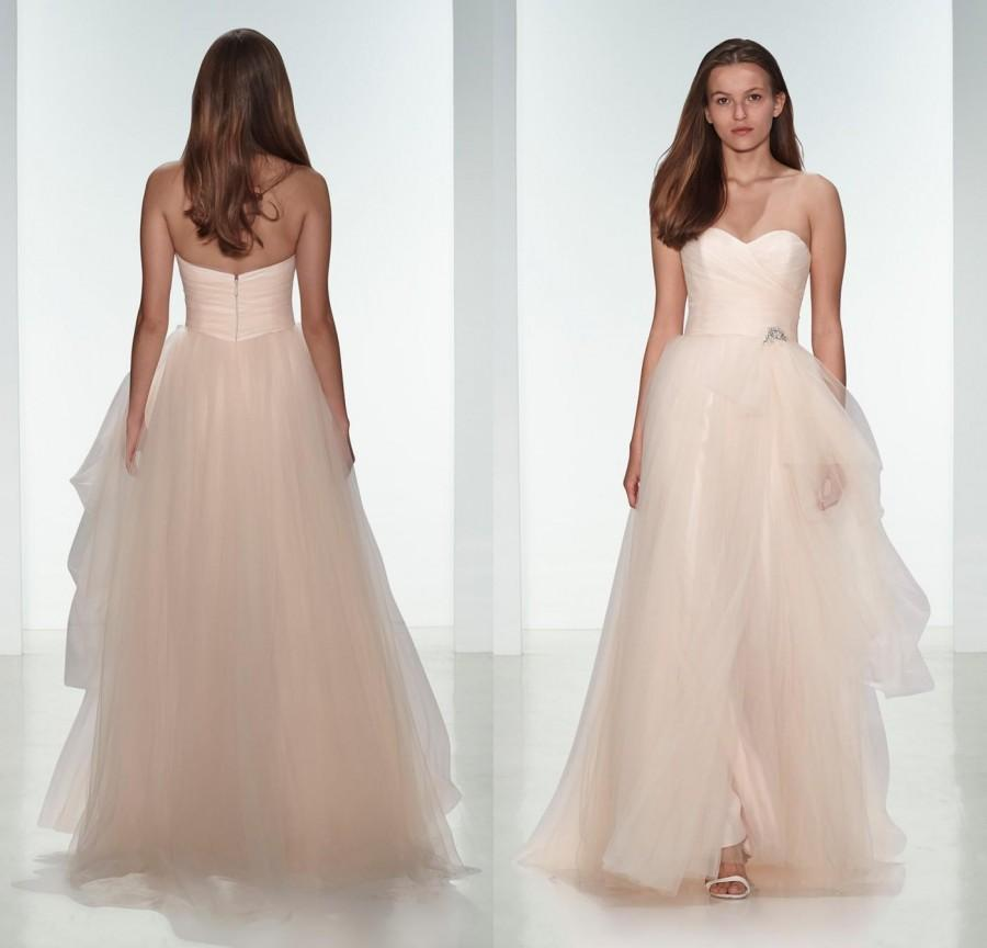 Tulle Blush Pink Bridsmaid Dress