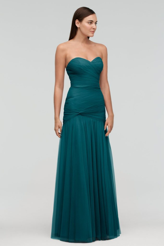 Viridian Sweetheart Bridesmaid Dress