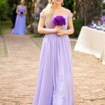 a line light purple bridesmaid dresses