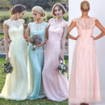 baby blue and light pink bridesmaid dresses