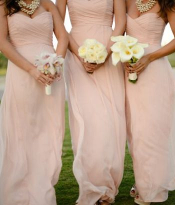 blush pale pink bridesmaid dresses