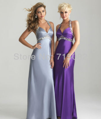 bridesmaid dresses purple and silver