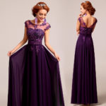 bridesmaid dresses purple lace UK
