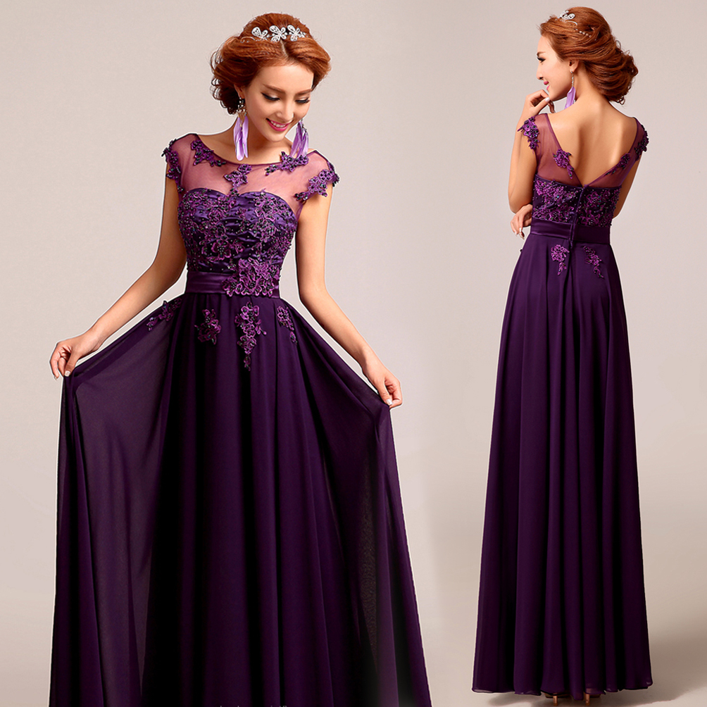 bridesmaid dresses purple lace UK – Budget Bridesmaid UK Shopping