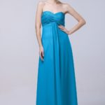 cornflower blue bridesmaid dresses floor length
