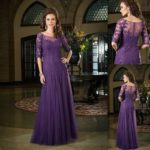 dark purple bridesmaid dresses with sleeves