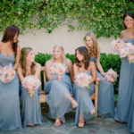 dusty blue bridesmaid dresses wildflower wedding