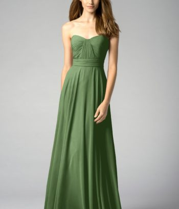 flora Strapless Sweetheart Bridesmaid Dress Long