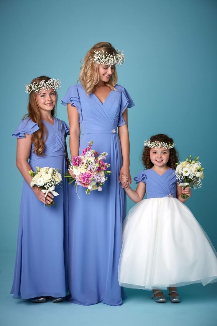 kids cornflower blue bridesmaid dresses