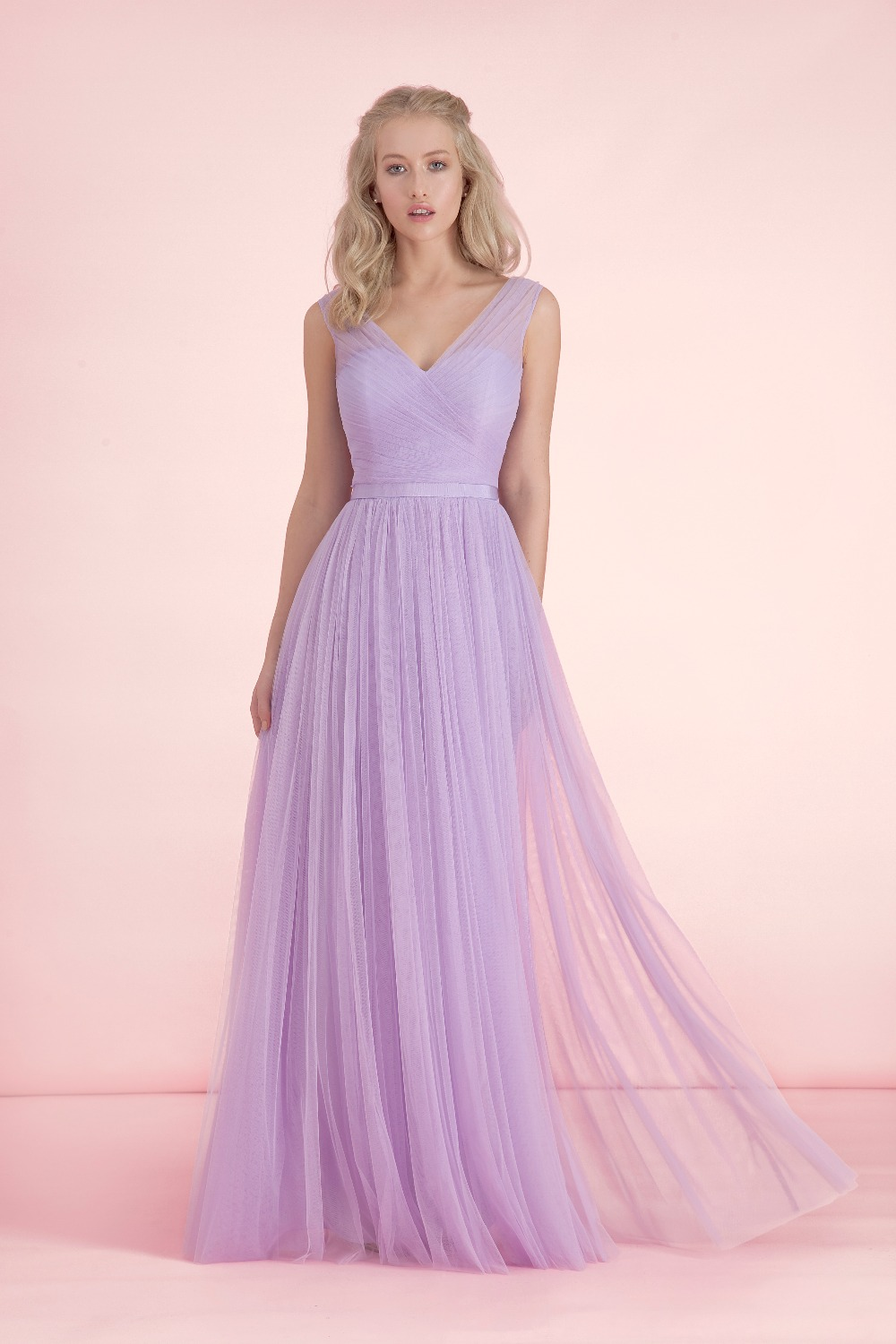 light to dark purple bridesmaid dresses