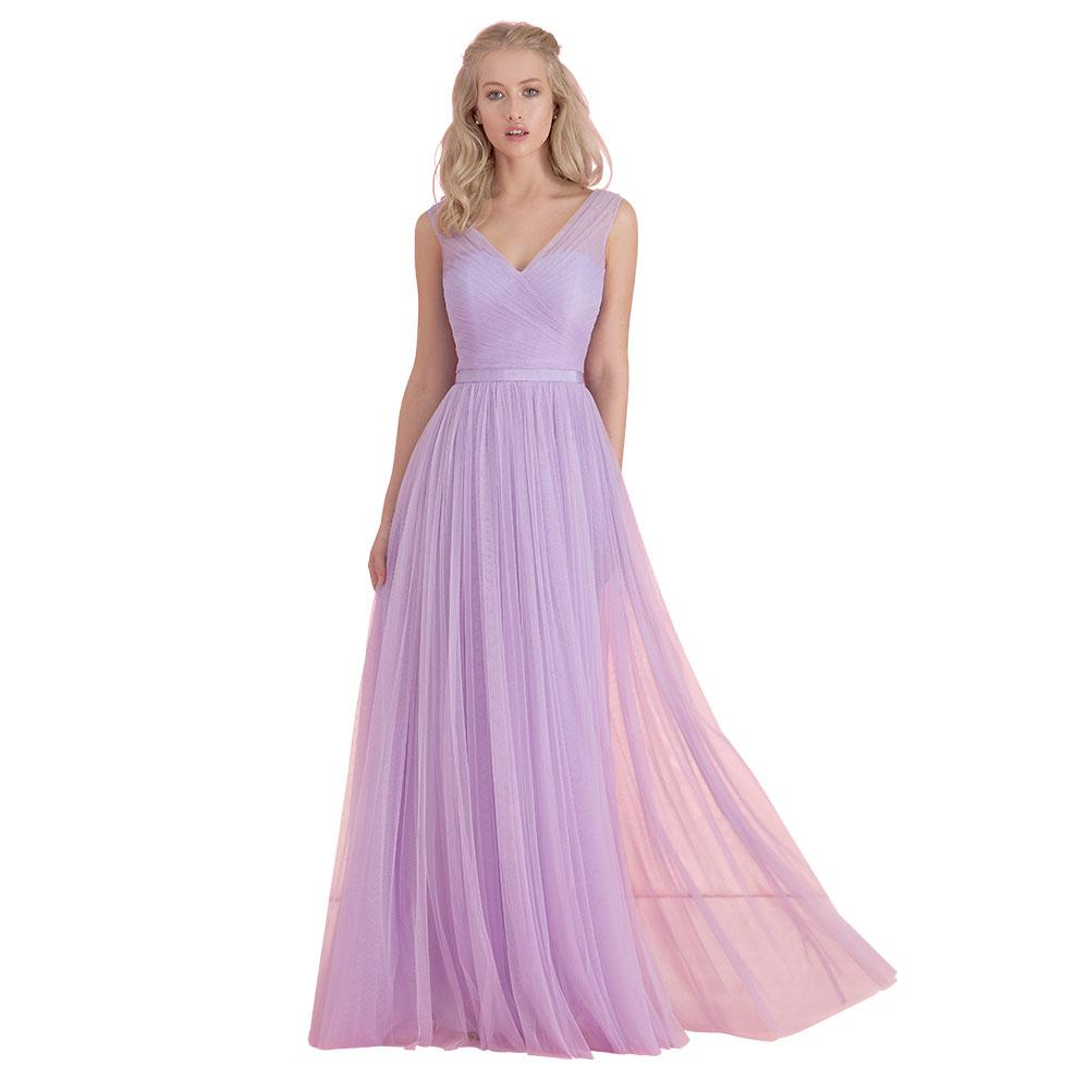 long light purple bridesmaid dresses