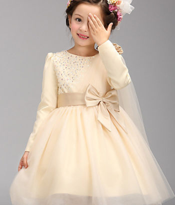 long sleeve flower girl tulle dresses