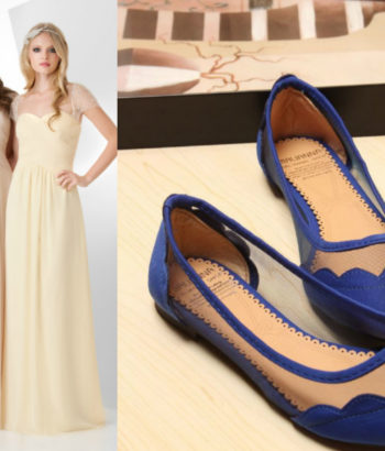 navy blue shoes with beige bridesmaid dress