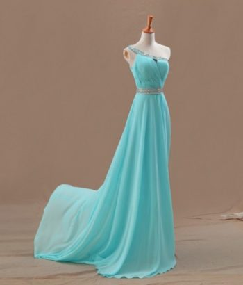 one shoulder tiffany blue bridesmaid dresses