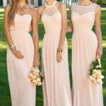 pink bridesmaid dresses long uk