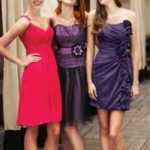 red and purple bridesmaid dresses