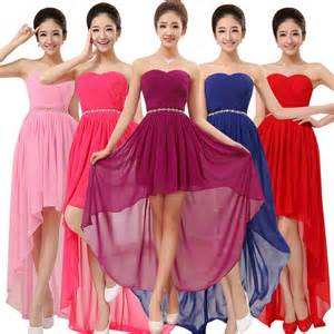 red blue and purple bridesmaid dresses