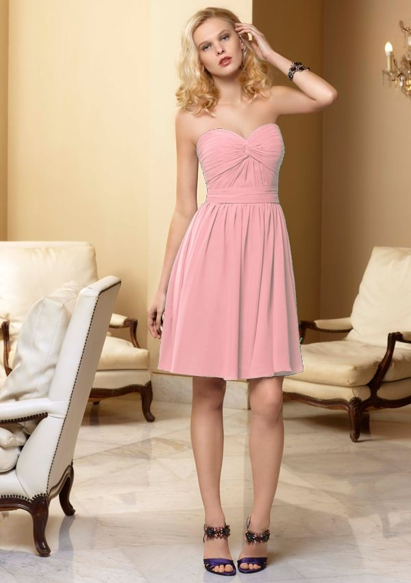 rose petal pink bridesmaid dresses