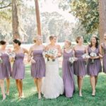 rustic light purple bridesmaid dresses