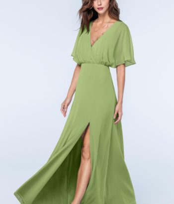 sage green bridesmaid dresses with sleeves