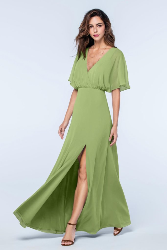 Sage Green Bridesmaid Dresses With Sleeves Budget