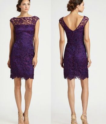 short bridesmaid dresses purple lace v neck