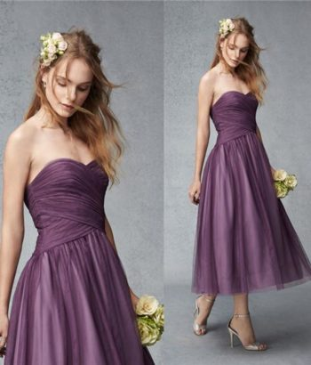 short junior bridesmaid dresses purple UK